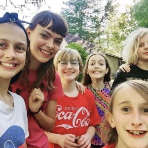 Group of preteens smiling