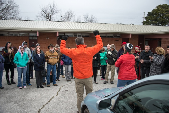 Community Meeting 2016 in front of building