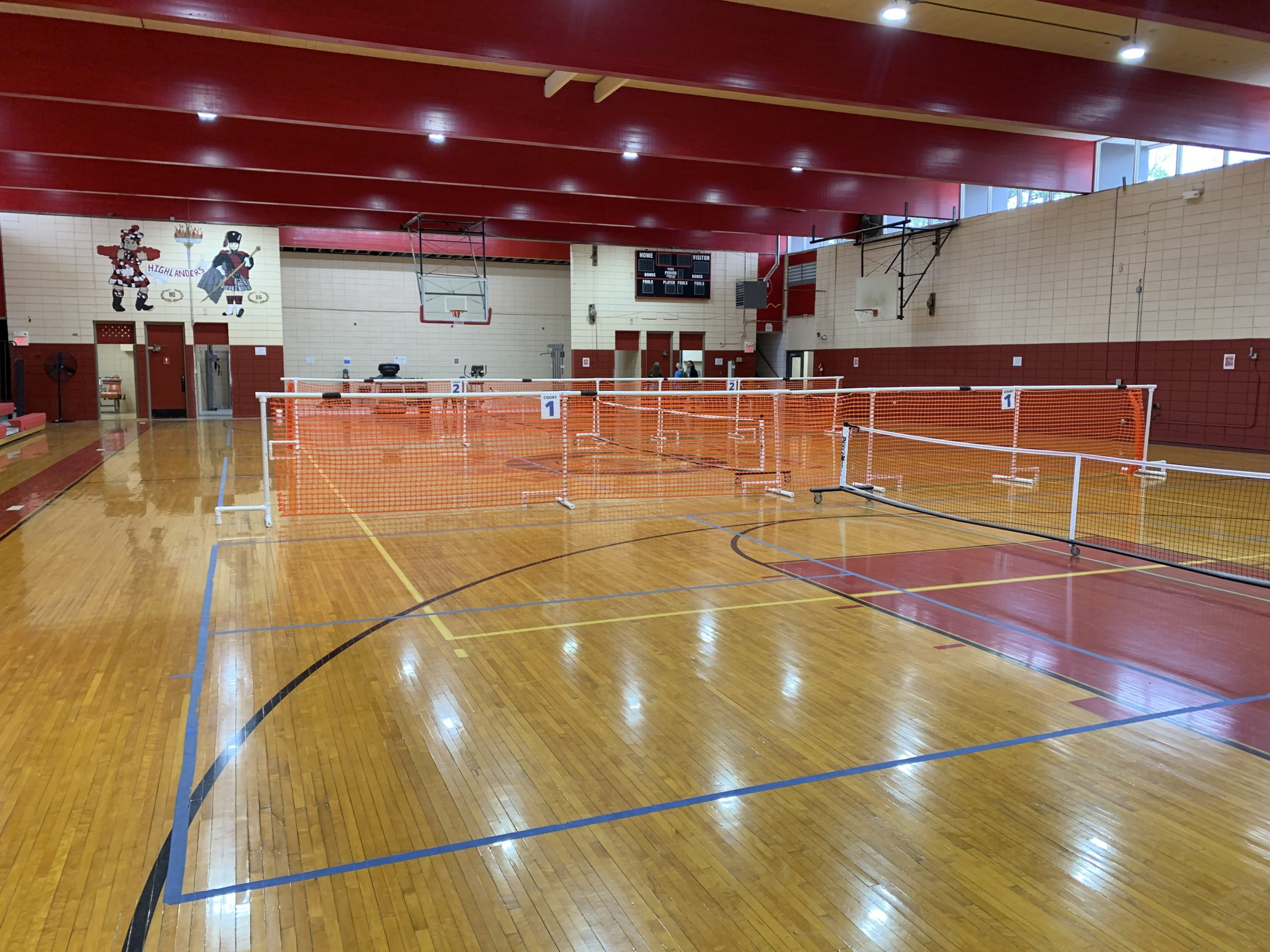Gym showing new lights