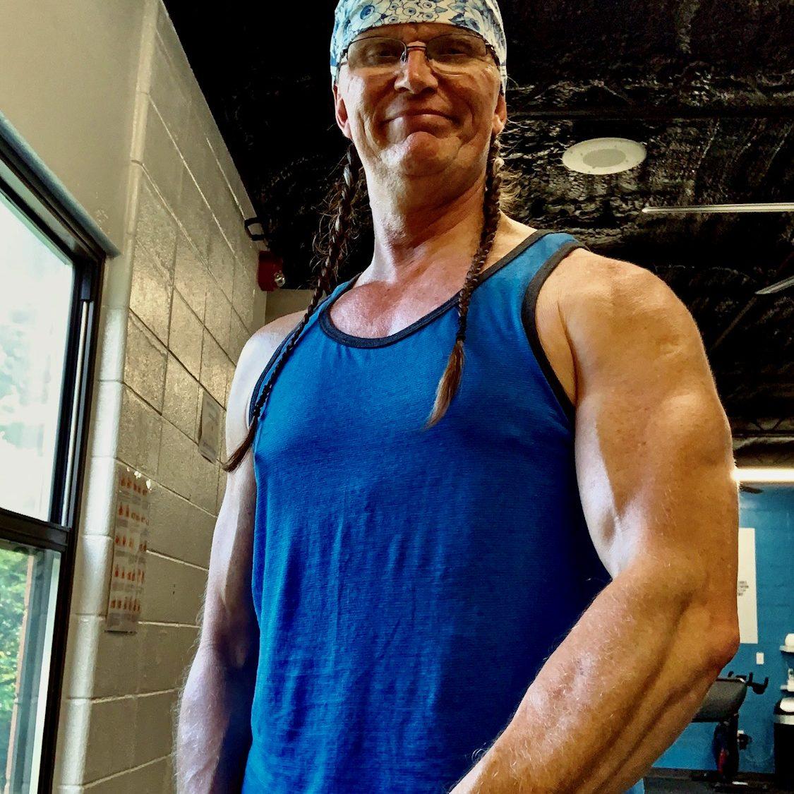 John Two-Hawks standing in Fitness Center
